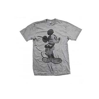 Disney Mickey Mouse Sketch Officiel Tee T-Shirt Mens Unisex
