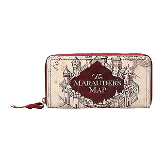 Harry Potter Purse The Marauders Map Logo new Official Zip around