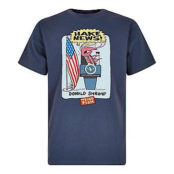 Weird Fish Men's Hake Artist Short Sleeve T-Shirt Blue
