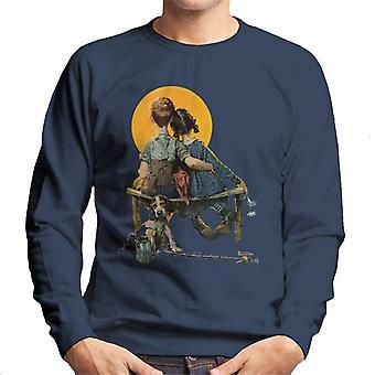Lørdag aften Post Norman Rockwell Sunset 1926 Cover Men's Sweatshirt