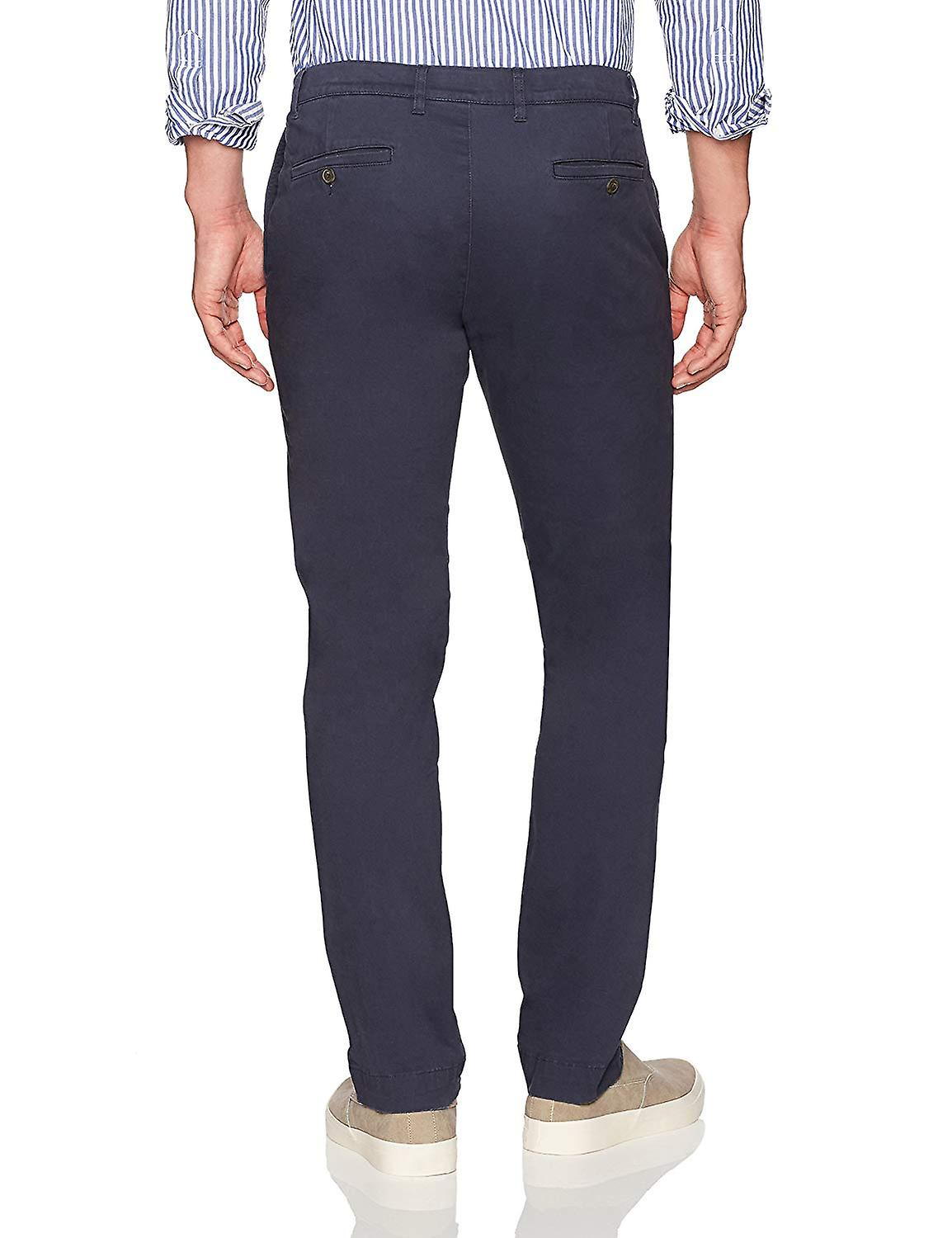Goodthreads Hombres's Slim-Fit Washed Stretch Chino Pant, Navy, 38W x 34L