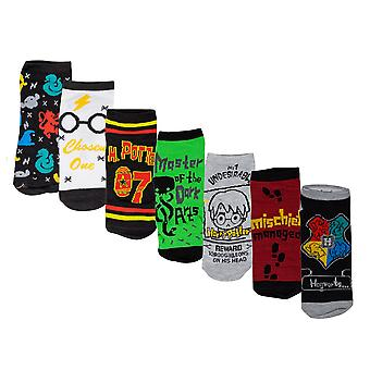 Harry Potter Chibi Sock of the Week Assorted Women's Shorties Socks 7-Pair Box Set