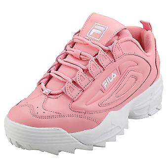 Fila Disruptor 3 Womens Fashion Trainers in Pink White
