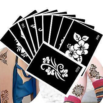 Wasserdichte Tattoo Schablone - Blumen Muster Paste für Zeichnung Körperkunst