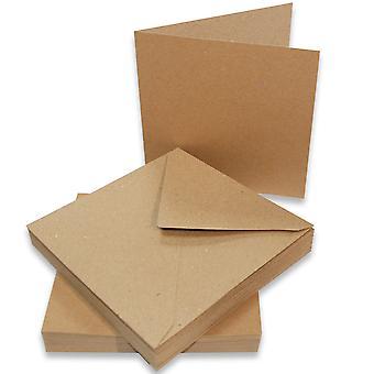Craft UK Cards & Envelopes 5x5 Inch Kraft – 50pcs
