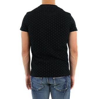 Balmain Monogram Flock Jersey Ts Black UH01601I378EAP Top