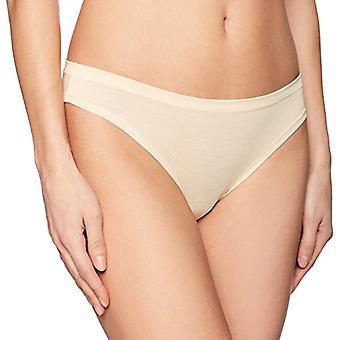 Brand - Mae Women's Airy Bikini, 3-Pack, Light Heather Grey/Charcoal Heather/Peach, XS
