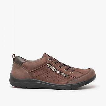 Earth Spirit Newton Ladies Leather Casual Shoes Dark Brown