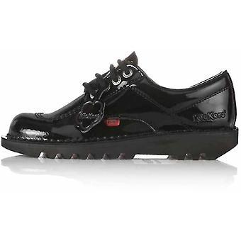 Kickers Women's Kick Lo Classic Patent Shoes Black 14