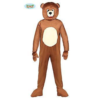 Drakt maskot Bjørn voksen størrelse bare