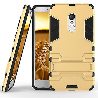 Shell for Xiaomi Redmi Note 4X Gold Space Armor Grey Hard Plastic Protection Case