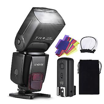 Pro On-camera Speedlite Flash Light Flash Trigger Color Filters Diffuser Hot Shoe For Canon Nikon Sony Camera