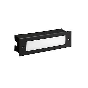 Leds-C4 Micenas - Outdoor LED EinbauwandLeuchte Schwarz 29,8 cm 1140lm 3000K IP65