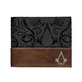 Assassins Creed Valhalla Wallet Symbol Logo new Official Black Bifold