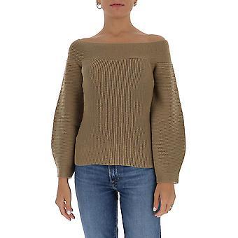Elisabetta Franchi Mk27s06e2390 Women's Brown Wool Sweater