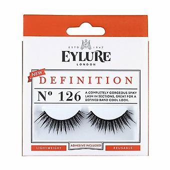 Eylure Definition Reusable False Eyelashes - 126 - Lash Adhesive Included