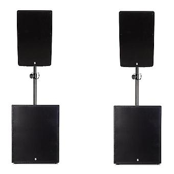 Big gig rig 41 - active 2000w rms 12 tops and 15 subwoofer pa system with bluetooth