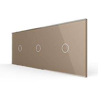 222mm * 80mm Potrójny szklany panel do przełącznika ściennego (4 kolory)