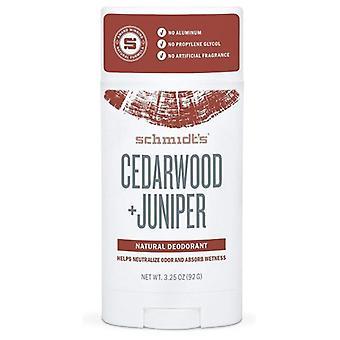Schmidt's Deodorant Deodrant Stick, Cedarwood+Juniper 3.25 Oz