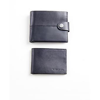 2 Rip Curl Leather Men's Wallets With RFID ~ Snap Clip black