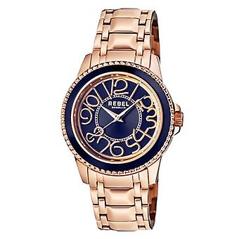 Rebel Unisex RB107-8049 Williamsburg(Steel)Rose-Gold IP Stainless Steel Watch