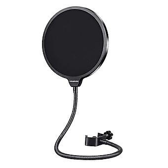 Black Filter Mask Shield Dual Layered Wind Pop Screen Wind Pop Filter Mask