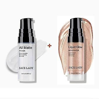 Face Oil Control Make-Up - Base Primer + Liquid Highlighter