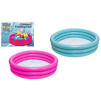 """Wild 'n Wet 34""""x6"""" Children's 3 Ring Paddling Pool, Assorted Colours"""