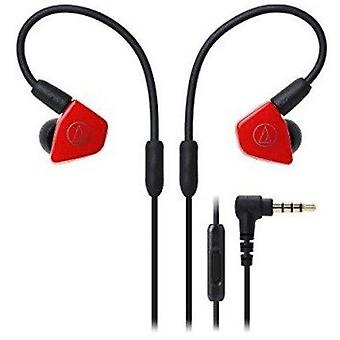 Audio-technica ath-ls50isrd in-ear monitor hodetelefoner med in-line mic & kontroll, rød