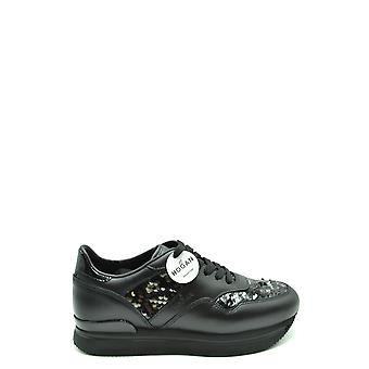 Hogan Ezbc030242 Women's Black Leather Sneakers