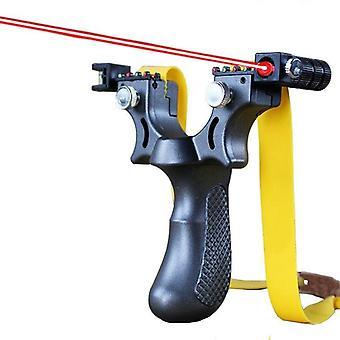 Hars Katapult Katapult met platte rubberen band - Hunting Shooting Laser Aiming