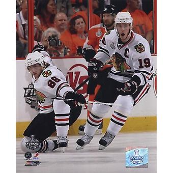 Patrick Kane & Jonathan Toews 2009-10 NHL Stanley Cup Finals Game 3 Action