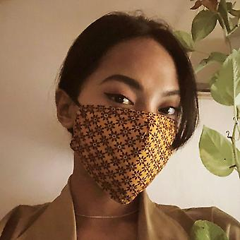 Clove Triple Layer Washable Face Mask (set Of 2)