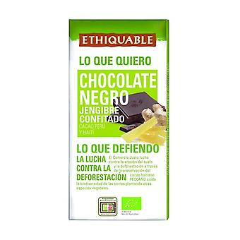 Bio Dark Chocolate with Candied Ginger 100 g