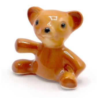 Dolls House Bone China Teddy Bear Nursery Ornament Miniature Toy Shop Accessory