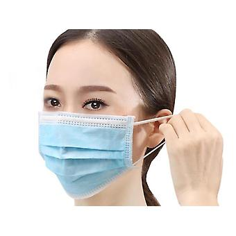 100 Piece Mask 3 Layer Disposable Mask Protective Blue Mask Respirator