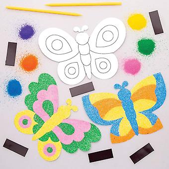 Butterfly sand art magnet kits (pack of 6)