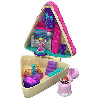 Polly pocket gfm49 birthday cake bash compact, 2 dolls and accessories, multi-coloured