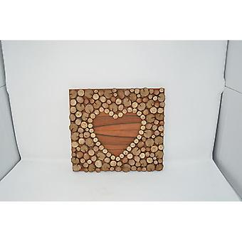 """Wooden picture 32x28.5 cm wood decoration wall decoration wall decoration """"heart"""" picture mural of wood wood decoration handmade made in Austria"""