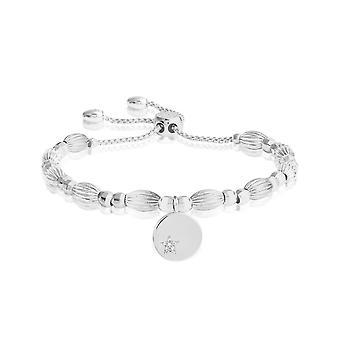 Joma Sieraden Bracelet Bar Star Disc Zilveren Armband 24.5cm Verstelbare armband 4429