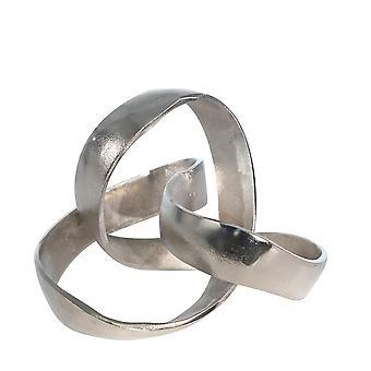 """Aluminum Knot Sculpture, 7"""", Silver Matte"""