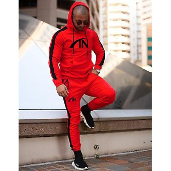 Men Sportswear Suit Sweatshirt Sweatpants, Male Training Hoodie Pants Sets