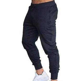Fitness Solid Running Men Sport Pencil Pants, Cotton Soft Joggers Gym Pants