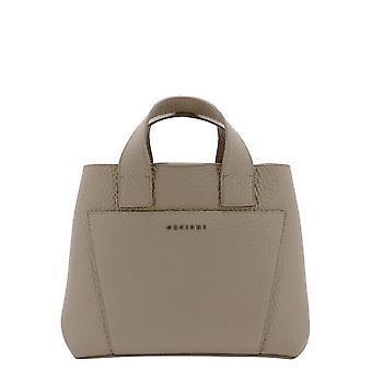 Orciani B02074softconchiglia Women's Beige Leather Handbag