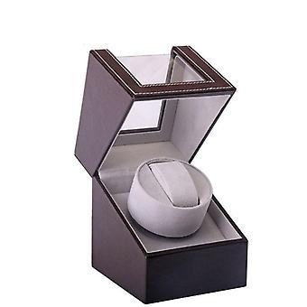 Braune mechanische Uhr Wickelbox