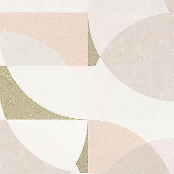 Pink White Grey Geometric Wallpaper