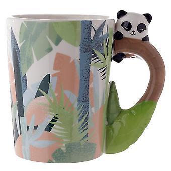 Graziosa tazza in ceramica a forma di panda da collezione