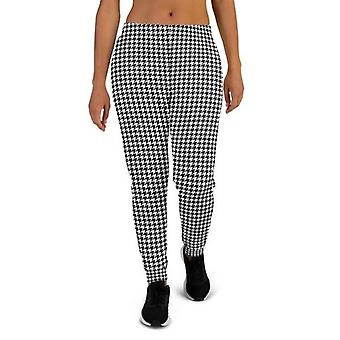Soft Cotton- Brushed Fleece Fabric, Houndstooth Joggers