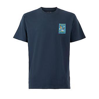 Monty Flython Ekologisk Bomull RSPB Artist T-Shirt Navy