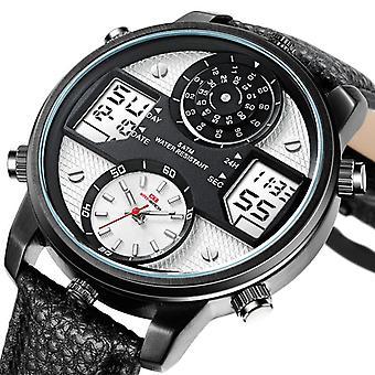 KAT-WATCH 5ATM waterdicht dual display horloge outdoor sport 24 uur display qua